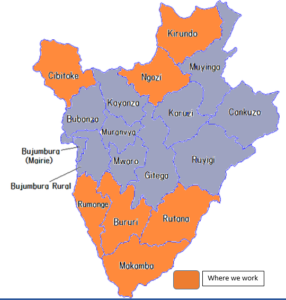 provinces in which we work